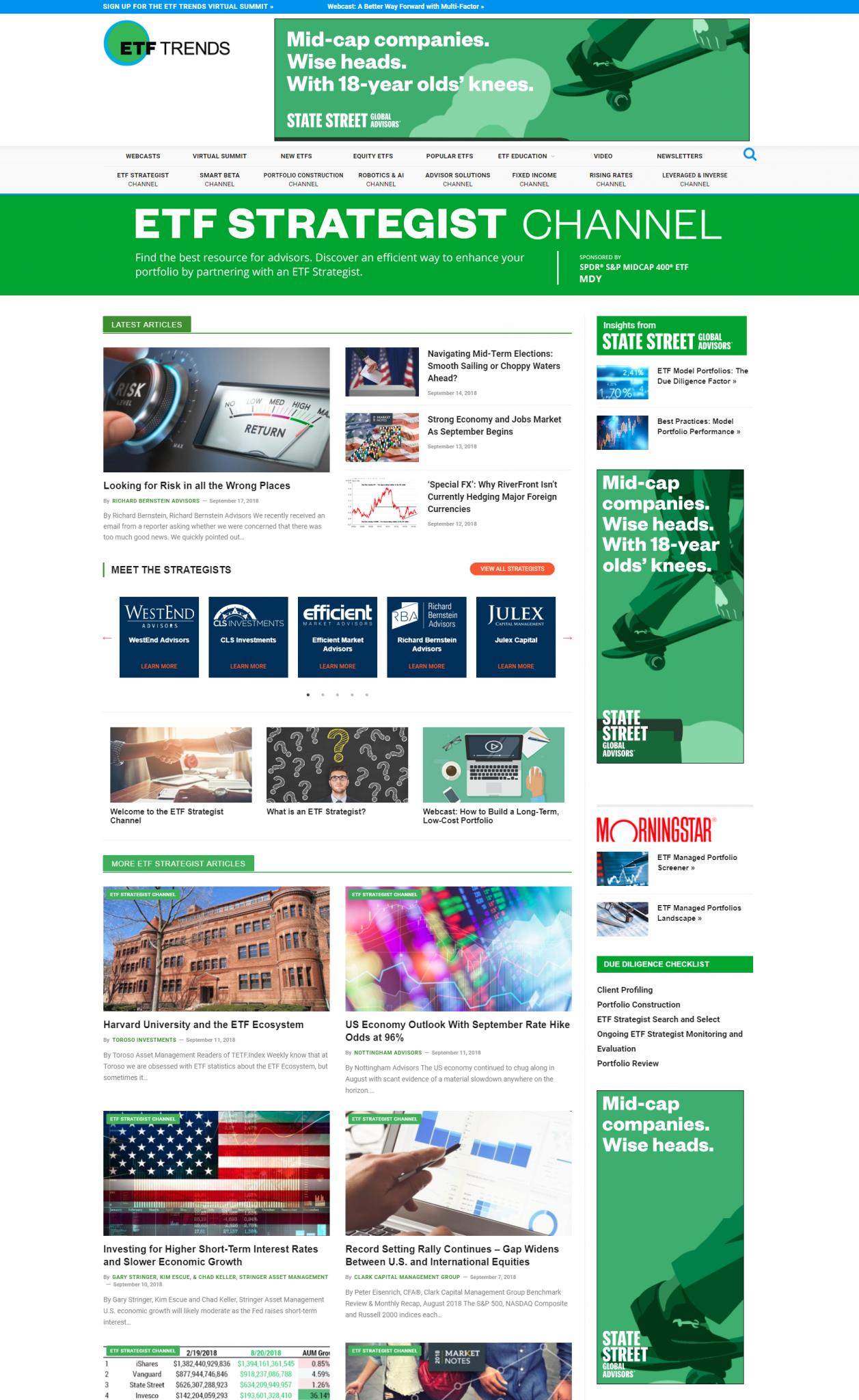 ETF Strategist Channel homepage