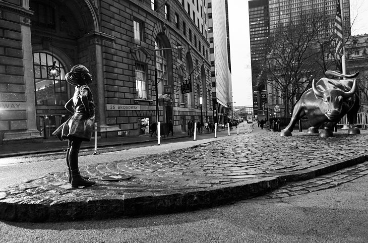 Move Over Wall Street Bull! State Street Commissions Bronze Girl in NYC's Financial District