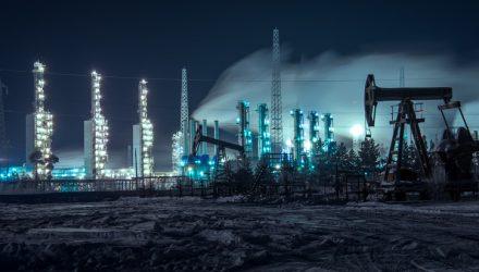 U.S. Stock ETFs Slip as Crude Oil Plunges