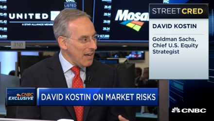 Goldman Strategist Sees Weaker Stock Prices Despite Higher Earnings