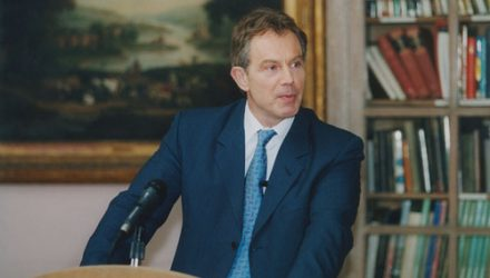 Former British Prime Minister Tony Blair Talks Tariffs
