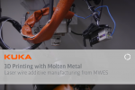 Robotic 3D Printing with Lasers and Molten Metal