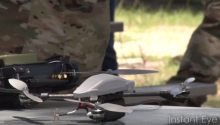 Soldiers Conduct A Robotics Demonstration at Fort Benning